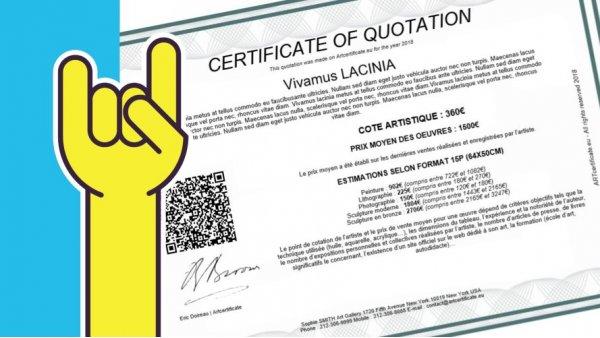 certificate of authenticity artcertificate