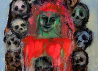 MARGA MOREL D'ARLEUX<br />Tableaux peints à la cire sous verre