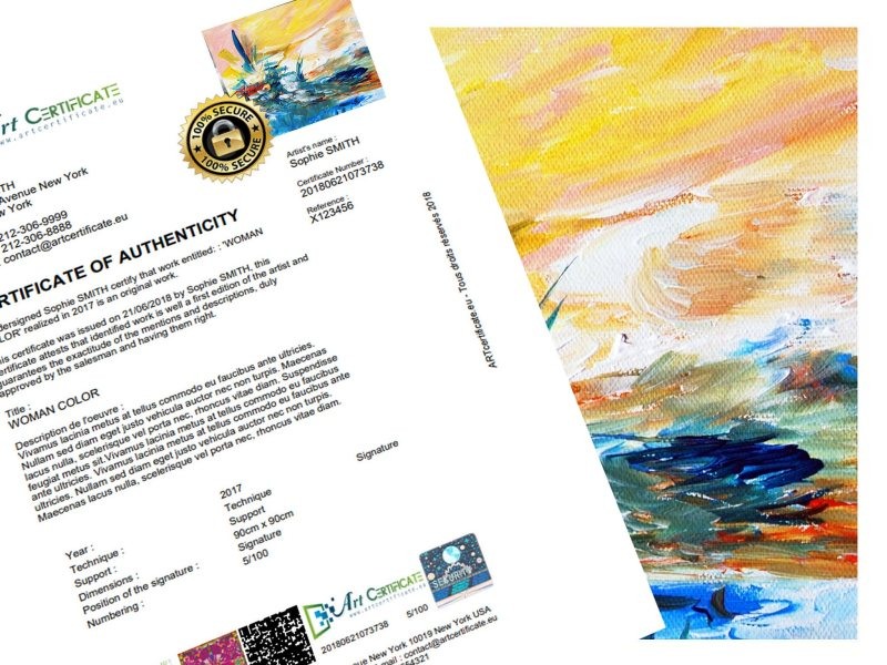 Artcertificate | Take advantage of your 1st FREE certificate