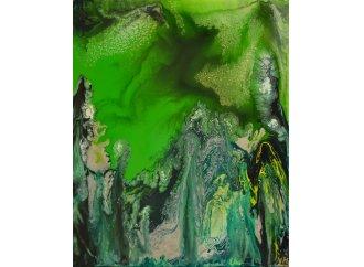 Chlorophylle (peinture vitrail sur toile)