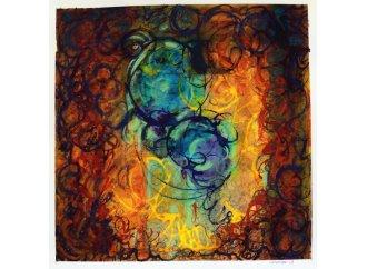 Le Crépuscule (série Exodes) 24x24cm