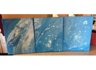 Oceania original acrylic on canvas painting 3 set