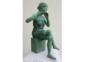 LA FLUTISTE AUX PIEDS NUS - bronze