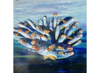 Bouquet de poissons bleu
