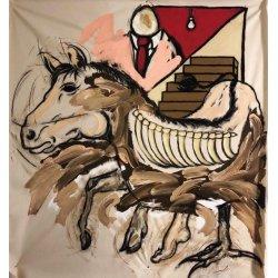 Cheval sur escalier (160x170)